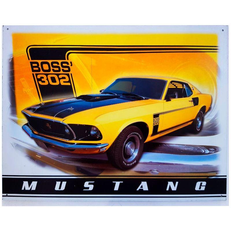 Placa-De-Metal-Mustang
