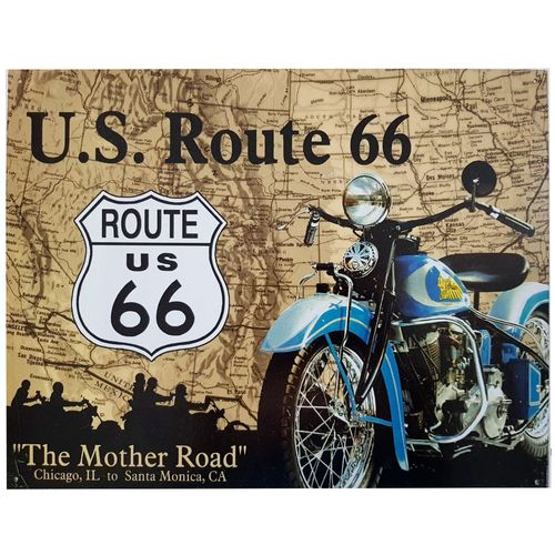 placa-de-metal-u.s.-route-66-cod-566701
