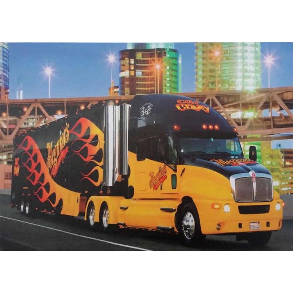 Quadro-Tela-Caminhao-Truck-Amarelo