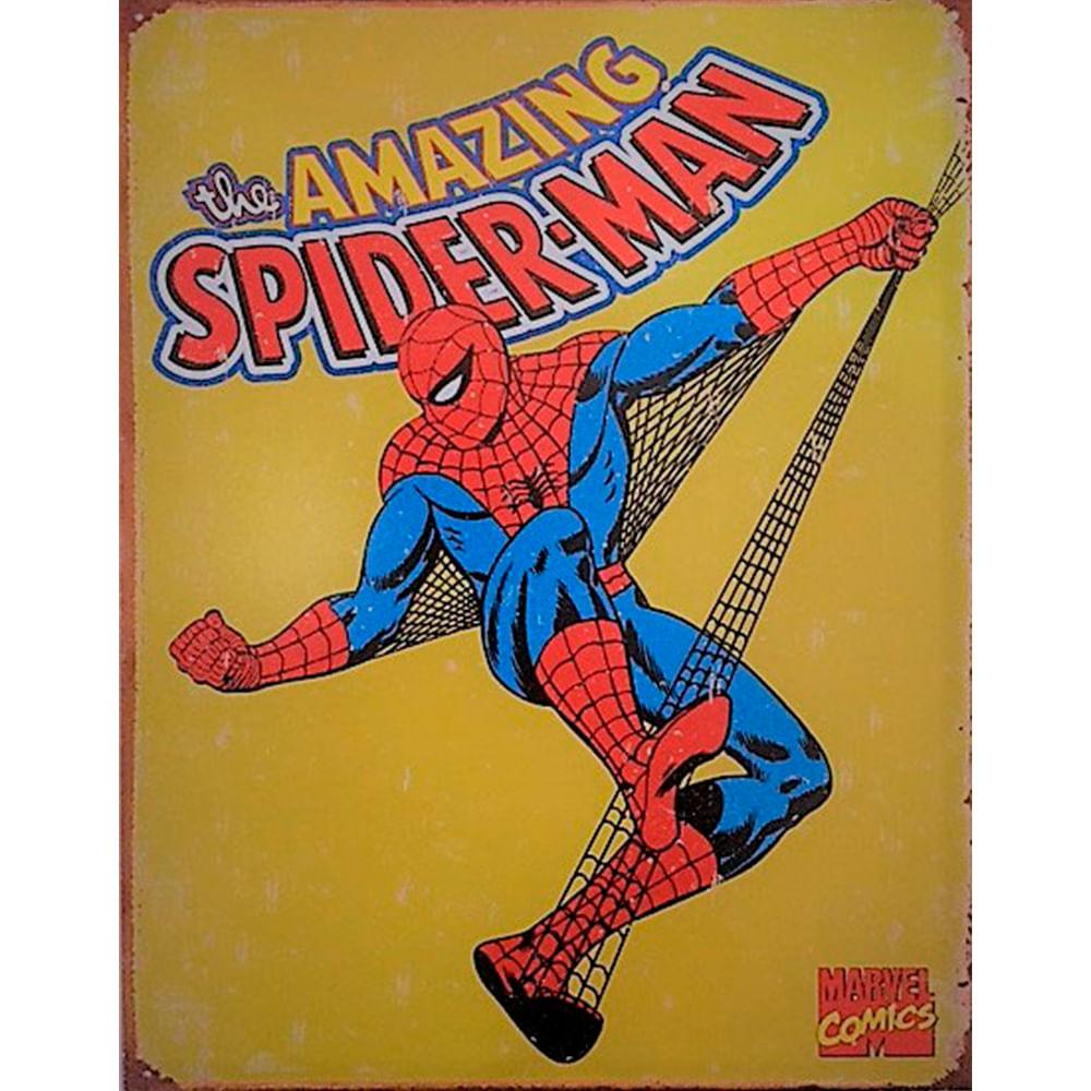 Placa-De-Metal-Spider-Man