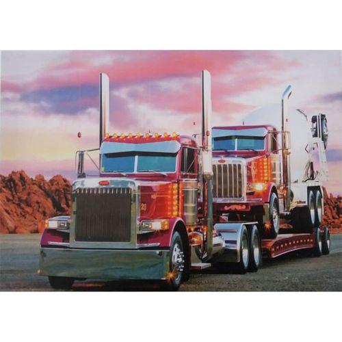 quadro-tela-caminhao-truck-rosa-cod-571801