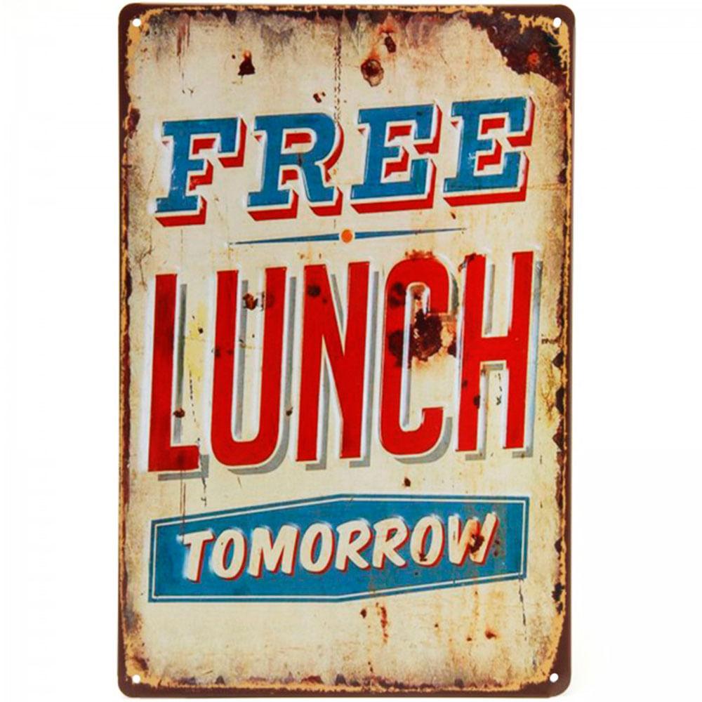 placa-decorativa-de-metal-free-lunch-tomorrow-01