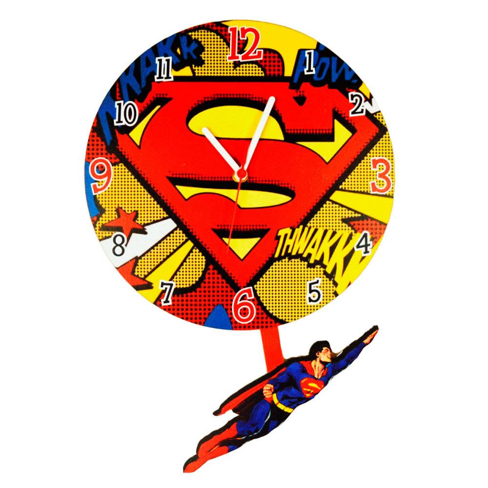 30fabf6f9bc Relógio Pendulo Super Homem - Versare Anos Dourados ...