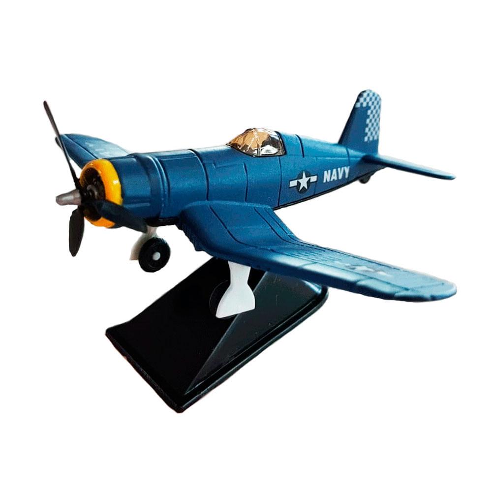 Miniatura-Colecionavel-Aeronave-Classic-Fighter-Azul-05