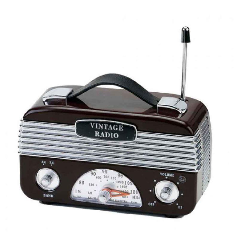 Radio-Vintage-Moderno-AM-FM-Marrom------------------------------------------------------------------