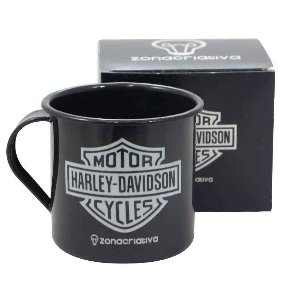Caneca-de-Metal-Esmaltado-Harley-Davidson-----------------------------------------------------------