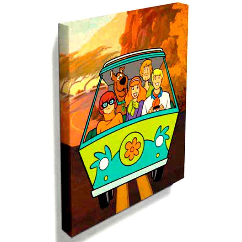 Quadro-Tela-Maquina-do-Misterio-Scooby-Doo----------------------------------------------------------