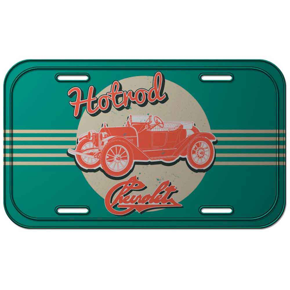 Placa-de-Metal-Hotrod-Chevrolet-Retro---------------------------------------------------------------