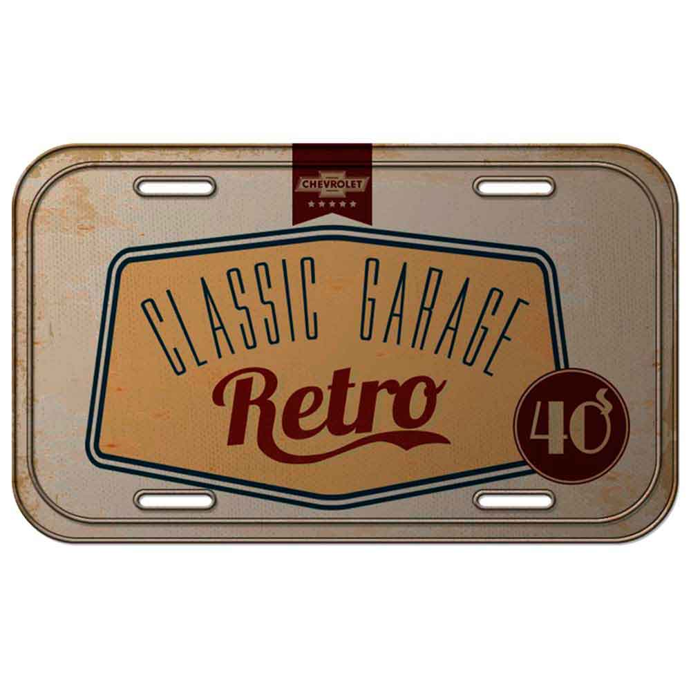 Placa-de-Metal-Deluxe-Anos-40-Chevrolet-Retro-------------------------------------------------------
