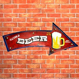 Placa-Led-Retro-Seta-Beer---------------------------------------------------------------------------