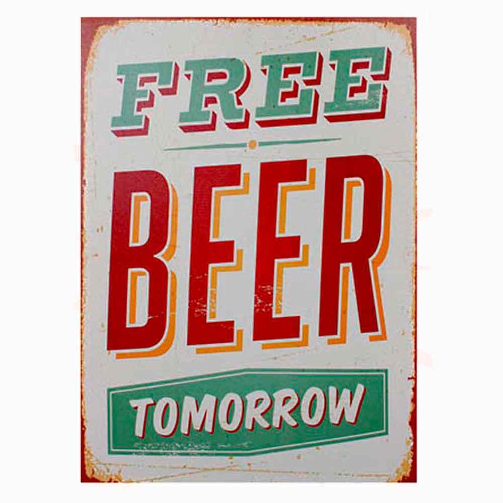 Quadro-Tela-Free-Beer-Tomorrow----------------------------------------------------------------------