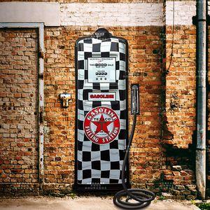 Bomba-De-Combustivel-Texaco-Quadriculada