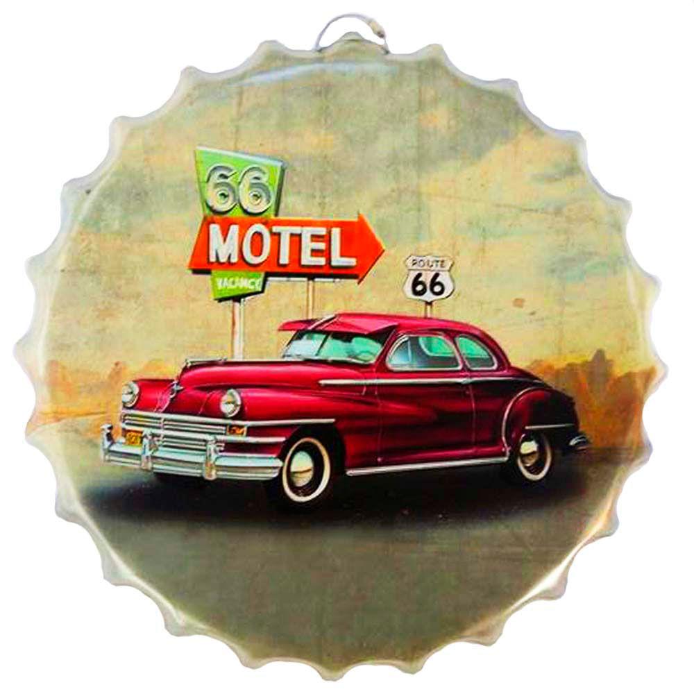 Placa-Metal-Alto-Relevo-Tampa-Rota-66-Motel