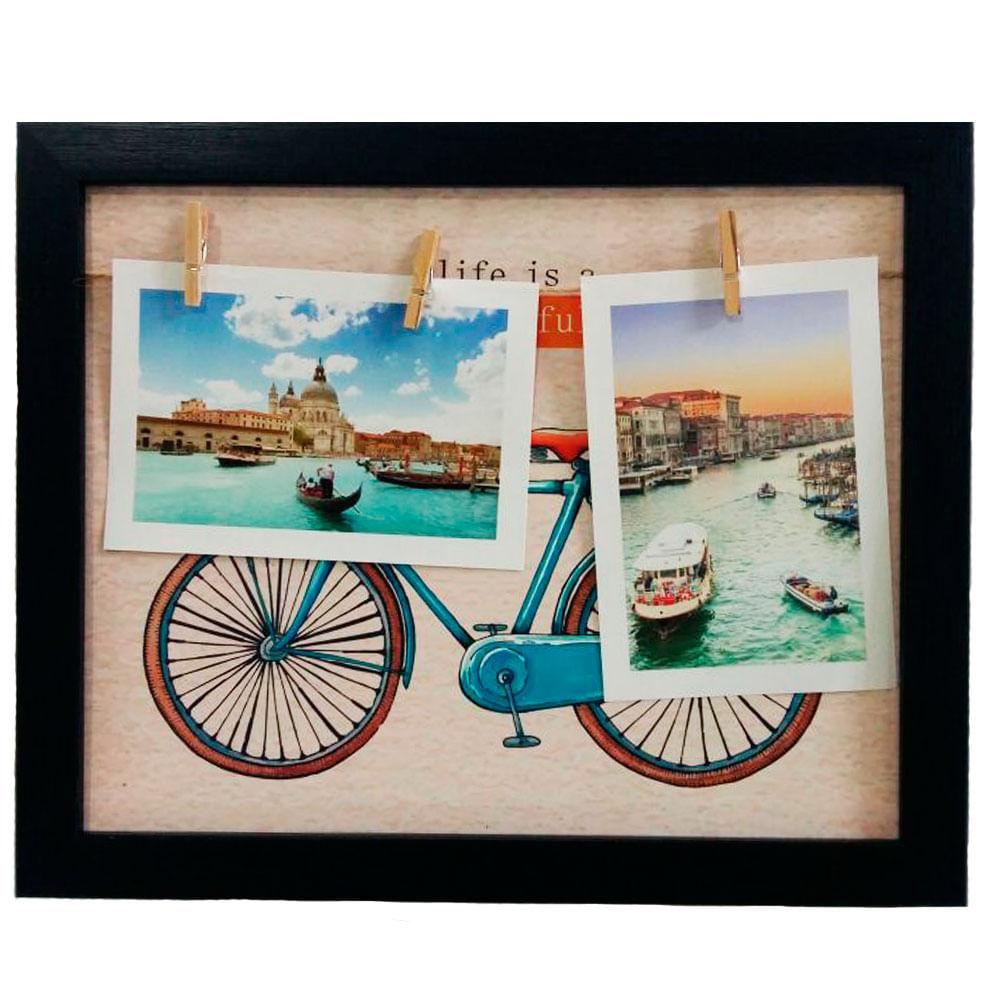 Quadro-Porta-Retrato-E-Porta-Recados-Memorias-Life-Is-Beautiful