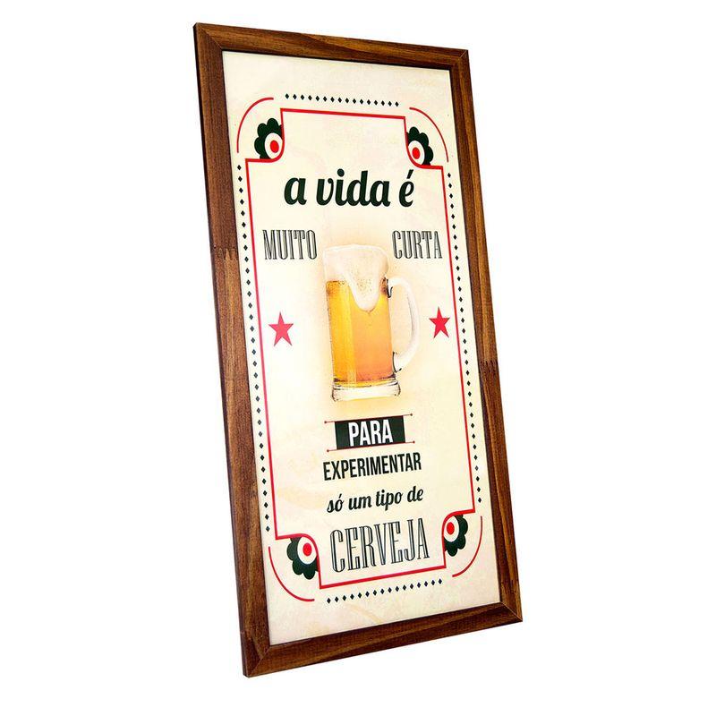 Quadro-Porta-Tampinhas-De-Cerveja--a-Vida-E-Curta-