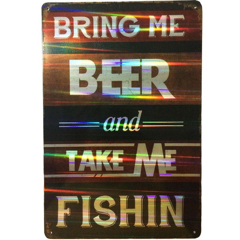 Placa-Refletiva-3d-De-Metal-Bring-Me-Beer-Preta---Un