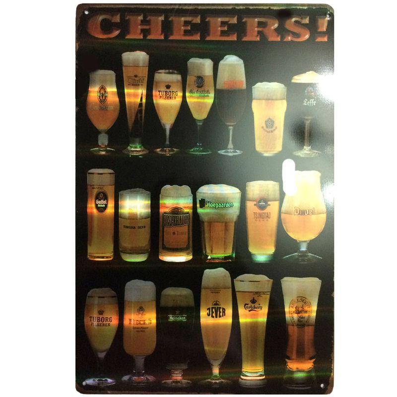 Placa-Refletiva-3d-De-Metal-Cheers-Preta---Un
