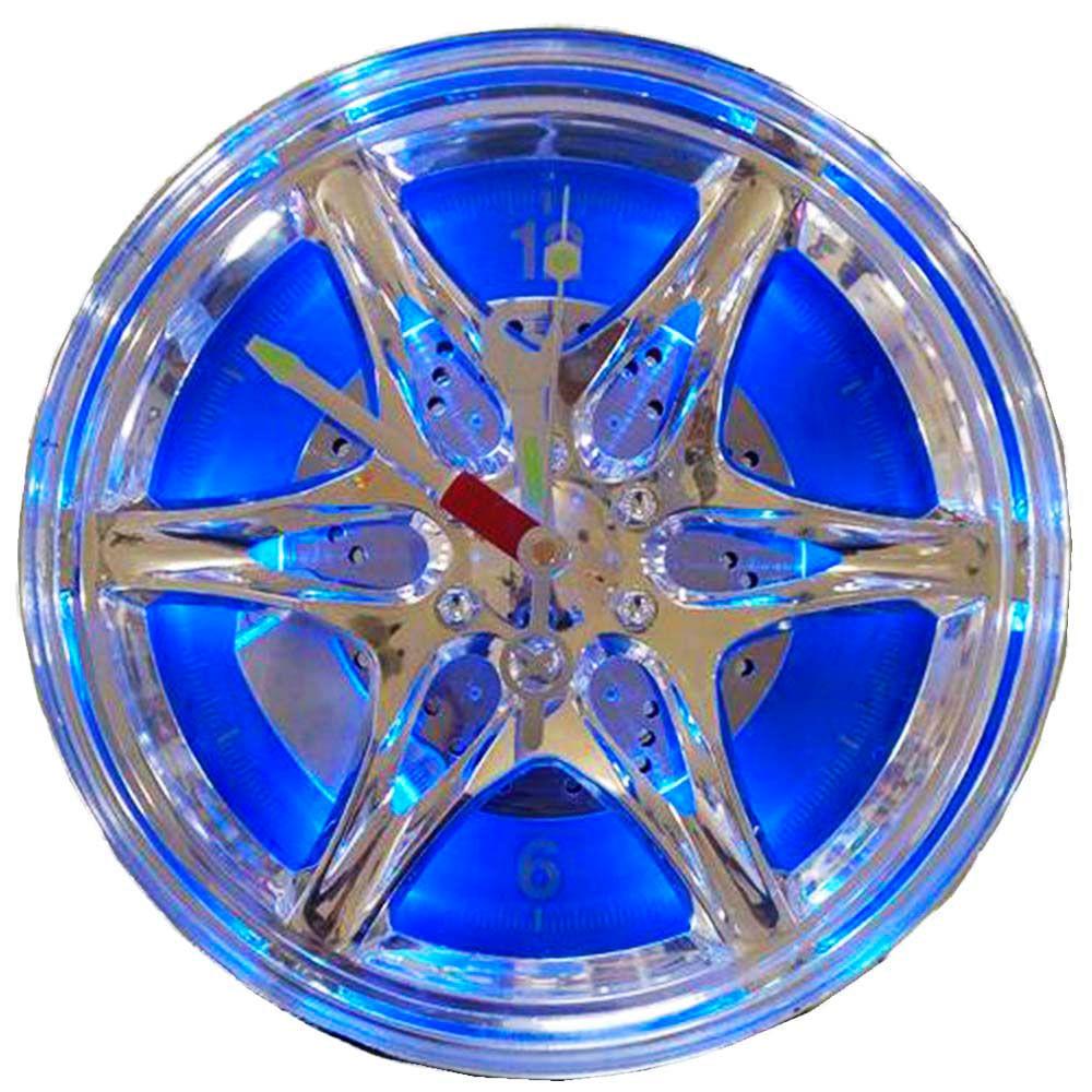 Relogio-De-Parede-Com-Iluminacao-Roda-De-Carro-Azul