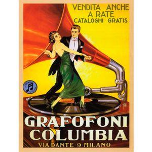Quadro-Poster-Grafofoni-Columbia-Ano-1920-332-X-27-Cm