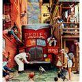 Quadro-Poster-Rockwell-Norman-Road-Block-1949-122-Cm-X-123-Cm