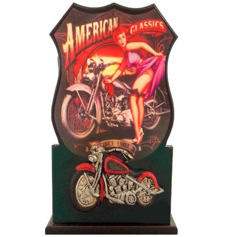 Porta-Chaves-Com-Porta-Motocicleta-Vermelha