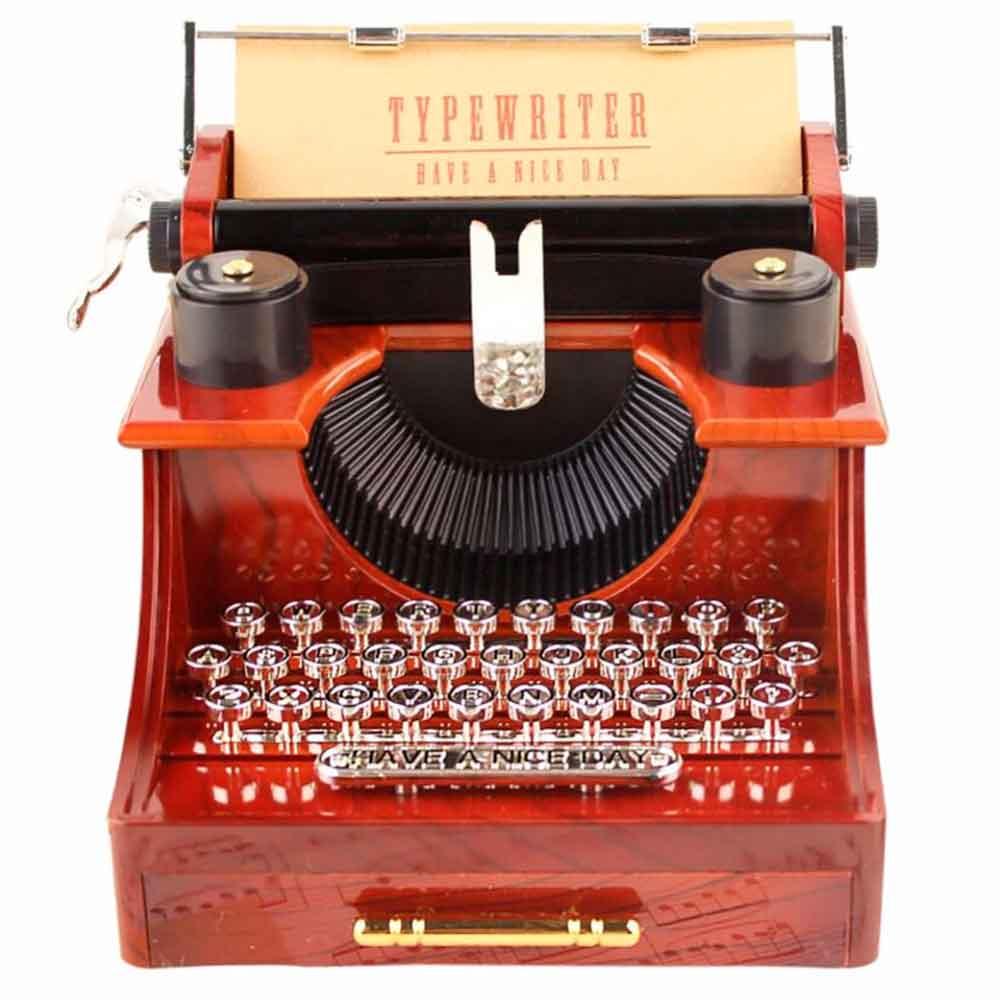 Caixa-De-Musica-Vintage-Maquina-De-Escrever