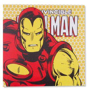 Quadro-Tela-Com-Led-Marvel-Homem-De-Ferro