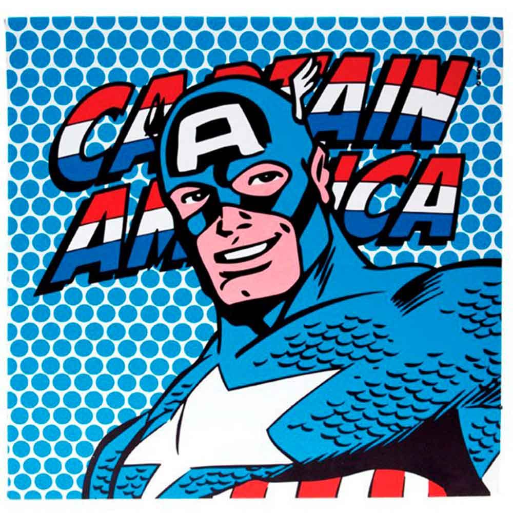 Quadro-Tela-Com-Led-Marvel-Capitao-America