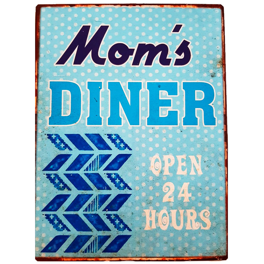 Placa-De-Metal-Vintage-Da-Mom-s-Diner