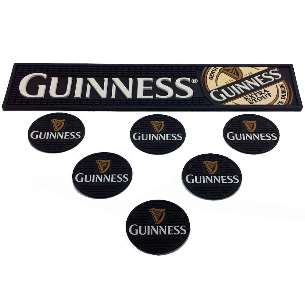 Bar-Mat-Esteira-Escorredor-E-6-Porta-Copos-Guinness