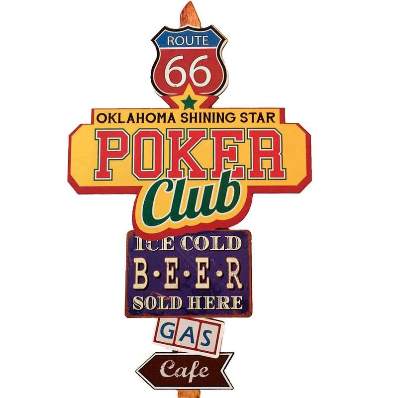 Placa-Mdf-Poker-Club