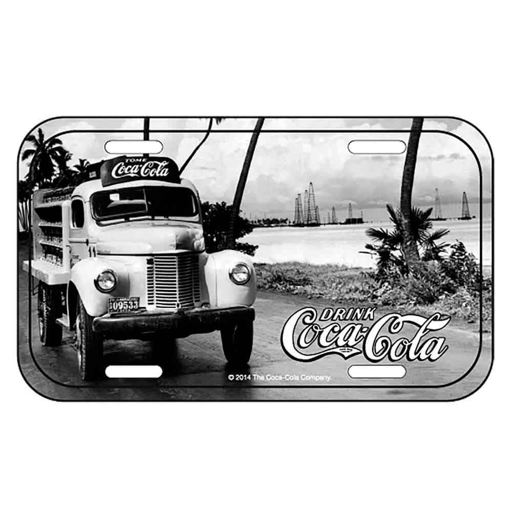 Placa-Metal-Old-Truck-Coca-Cola-Retro