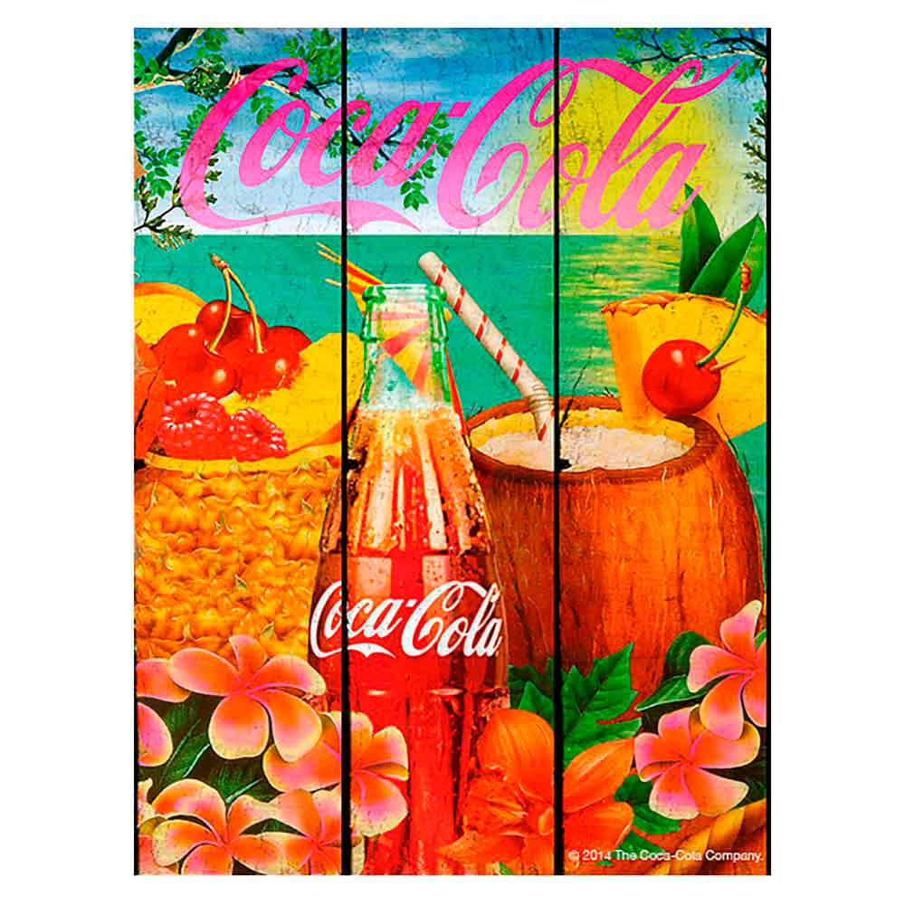 Placa-Madeira-Tropical-Flavor-Coca-Cola-Retro