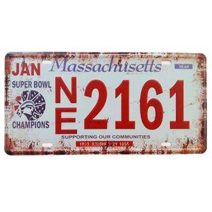 Placa-De-Carro-Decorativa-Em-Alto-Relevo-Massachusetts