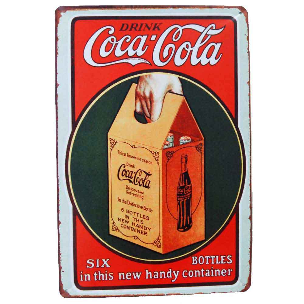 Placa-De-Metal-Decorativa-Drink-Coca-Cola-Vintage