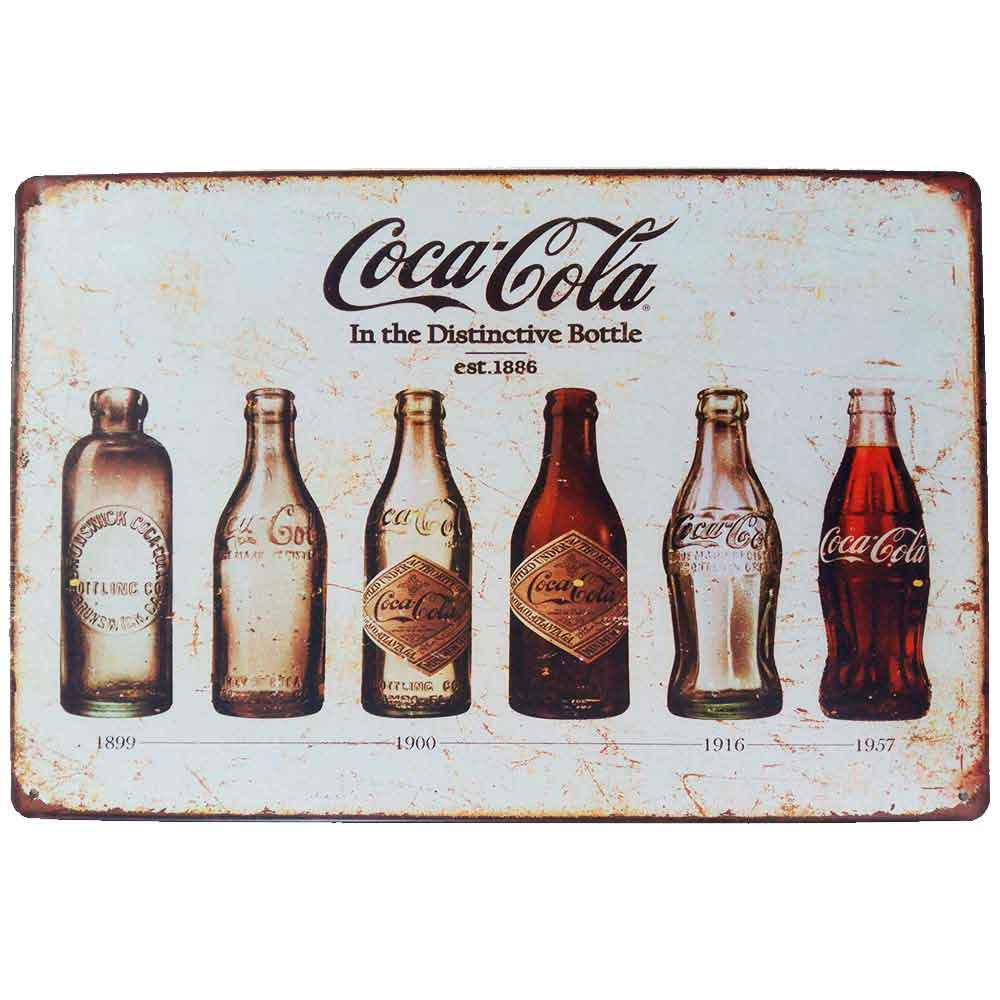 Placa-De-Metal-Decorativa-Bottle-Coca-Cola-Vintage