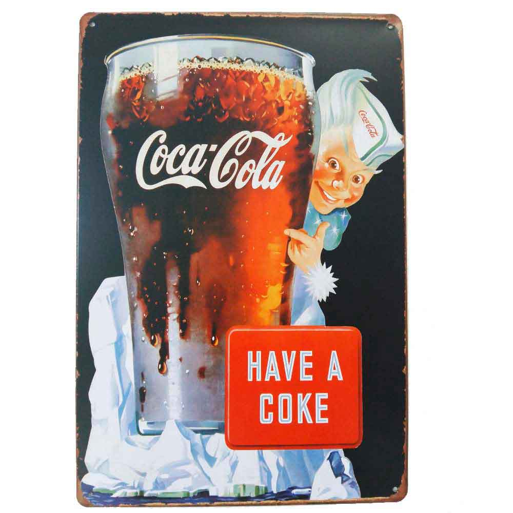 Placa-De-Metal-Decorativa-Coca-Cola-Have-A-Coke-Vintage