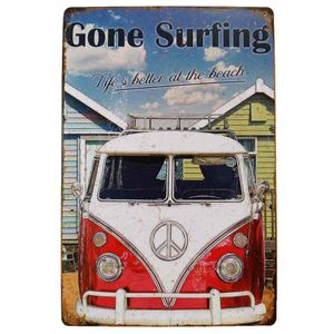 Placa-De-Metal-Decorativa-Kombi-Gone-Surfing