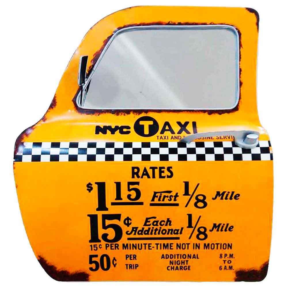 Porta-De-Carro-Decorativa-Com-Espelho-Taxi-Amarela