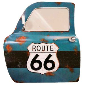 Porta-De-Carro-Decorativa-Com-Espelho-Route-66-Azul
