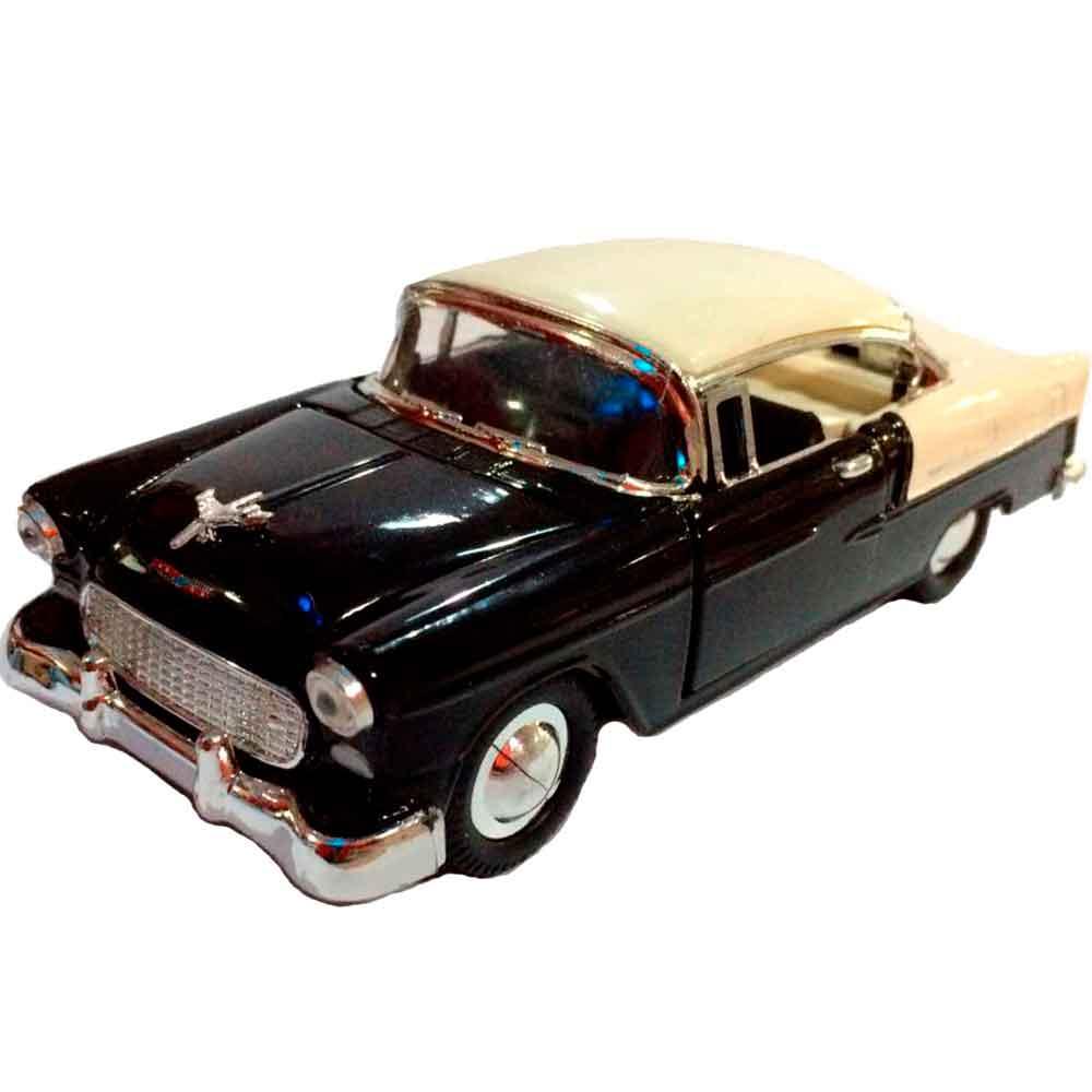 Miniatura-Chevy-Bel-Air-1957-Escala-1-32-Preto