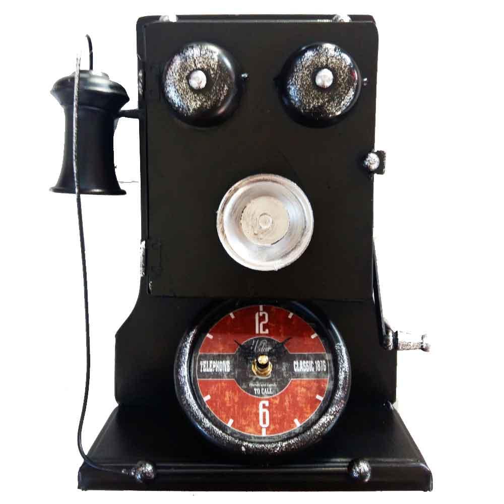 Relogio-De-Mesa-E-Porta-Chaves-Telefone-Do-Papai-Vintage
