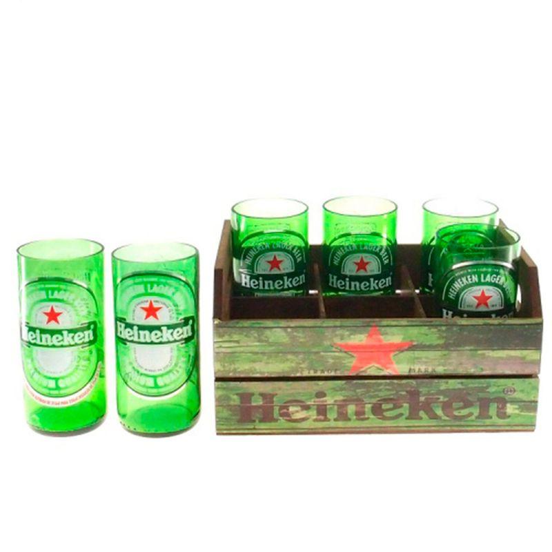 Engradado-Com-6-Copos-De-Vidro-Heineken