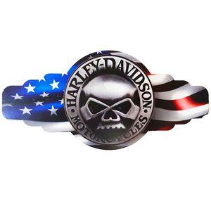 Mini-Placa-Decorativa-Alto-Relevo-Mdf-Harley-Davidson