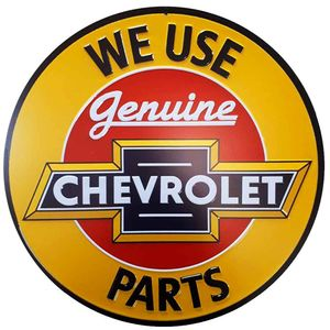 Placa-Decorativa-Mdf-Chevrolet-Genuine-Parts