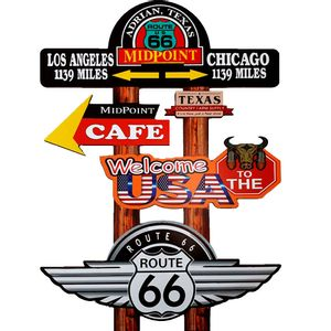 Placa-Decorativa-Mdf-Midpoint-Route-66-Recorte