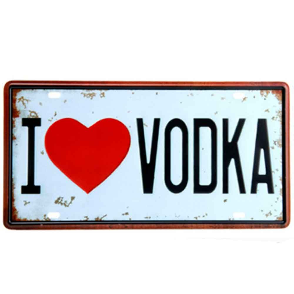 Placa-De-Metal-Decorativa-I-Love-Vodka