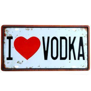 Placa-De-Metal-Decorativa-I-Love-Vodka