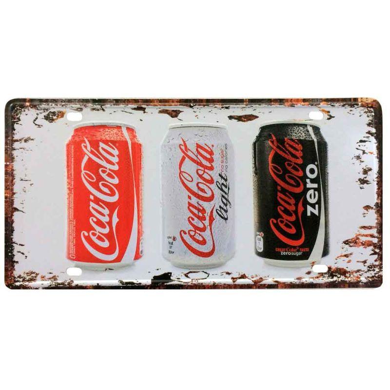 Placa-De-Metal-Decorativa-Coca-Cola-Normal-Light-Zero