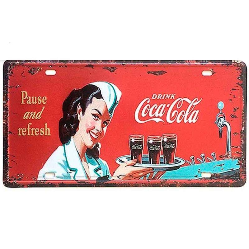 Placa-De-Metal-Decorativa-Coca-Cola-Pause-And-Refresh